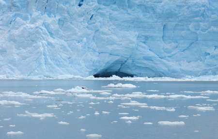 lake argentina: Glacier, icebergs and lake  Argentina  Patagonia  Perito Moreno  Stock Photo