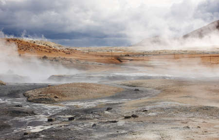 vents: Icelandic landscape with geothermal vents  Horizontal
