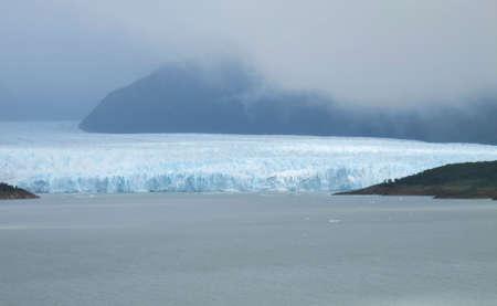 patagonian: Patagonian landscape with glacier and mountains  Perito Moreno