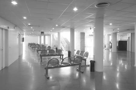 Modern building interior  Waiting area with chairs  Horizontal