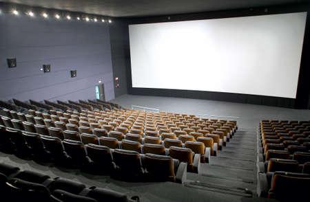 Modern cinema interior with seats and screen  Horizontal