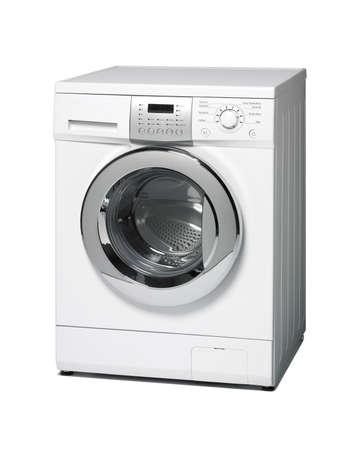 Washing machine isolated on white  Vertical format photo