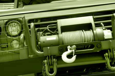 four wheel drive: Four wheel drive vehicle chain motor detail  Horizontal