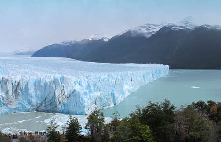 Perito Moreno glacier in Patagonia  Argentina  South America  Horizontal photo