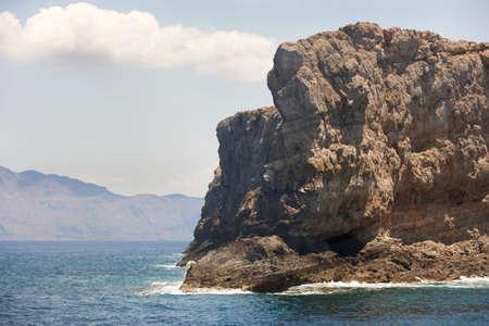 mediteranean: Cretan coastline in Gramvousa peninsula. Greece. Horizontal Stock Photo