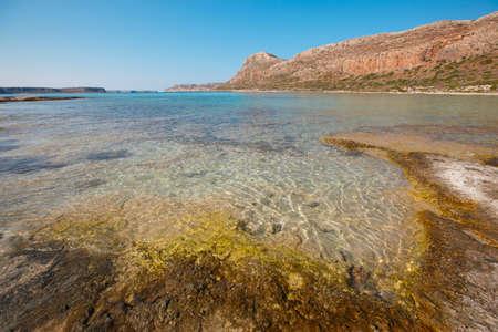 Balos beach in Gramvousa Peninsula. Crete. Greece. Horizontal photo