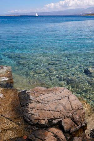 mediteranean: Mediterranean beach at Elounda. Crete. Greece. Vertical
