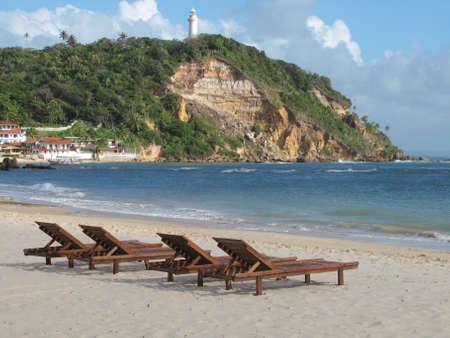 Morro de Sao Paulo beach. Brazil. Horizontal format Stock Photo - 33933150