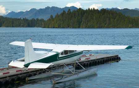 Landscape with hydroplane in Nanaimo. Vancouver. Canada. Horizontal