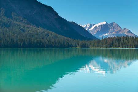 columbia: Emerald lake landscape. British Columbia. Canada. Horizontal