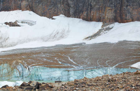 edith: Canadian landscape with Mount Edith Cavell glacier