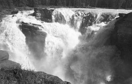 alberta: Canadian landscape in Athabasca falls, Alberta, Canada