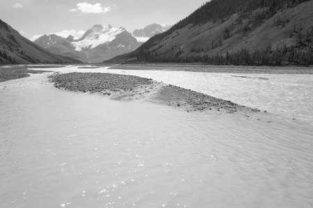 columbia: Columbia Icefield landscape in Alberta. Canada. Horizontal