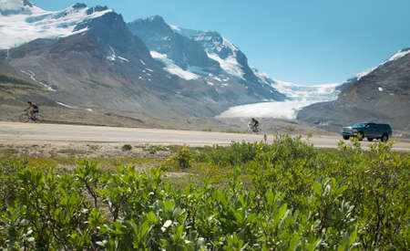icefield: Columbia Icefield landscape in Alberta. Canada. Horizontal