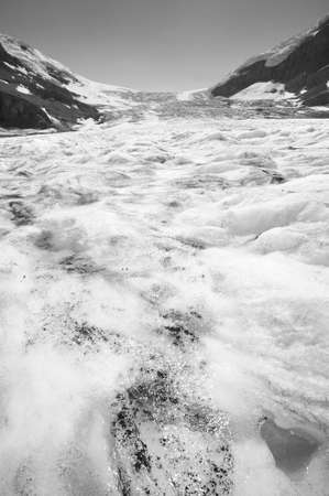alberta: Columbia Icefield landscape in Alberta. Canada. Vertical Stock Photo