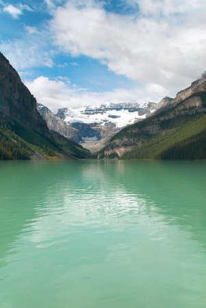 louise: Canadian landscape in Lake Louise. Alberta. Canada. Vertical