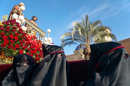 semana santa: Easter procession in Elche, Alicante, Valencia. Spain. Horizontal