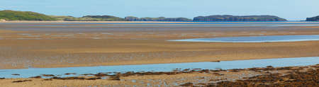Panoramic scottish landscape with estuary in Highlands. Tongue. Scotland. UK photo