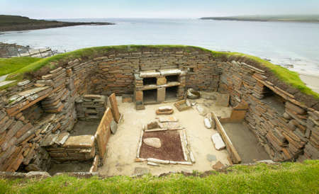 Scottish prehistoric site in Orkney. Skara Brae. Scotland. UK