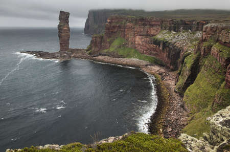 Scottish landscape in Orkney. Old man of Hoy. Scotland. UK