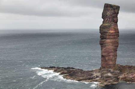 Scottish landscape in Orkney. Old man of Hoy. Scotland. UK