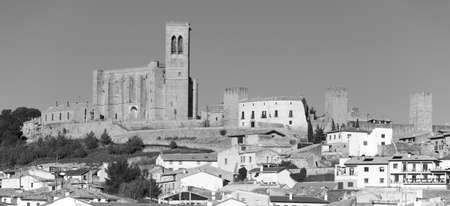 navarra: Antique medieval village of Artajona. Navarra, Spain. Horizontal