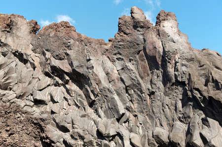 jorge: Azores basalt formation in Sao Jorge. Faja do Ouvidor. Portugal. Horizontal