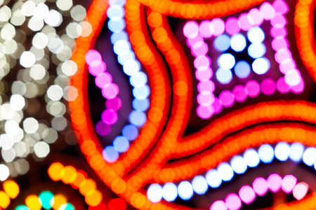 focus on background: Multi colored out of focus background. Abstract backdrop horizontal format Stock Photo