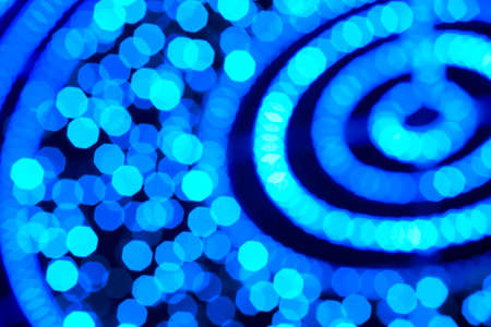 focus on background: Blue colored out of focus background. Abstract backdrop horizontal format