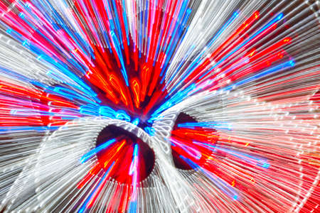 moving in: Moving colored lights background. Abstract backdrop in horizontal format Stock Photo