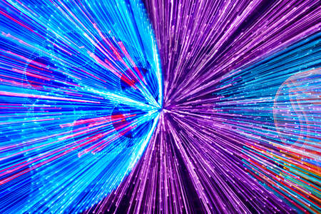 horizontal format: Moving colored lights background. Abstract backdrop in horizontal format Stock Photo