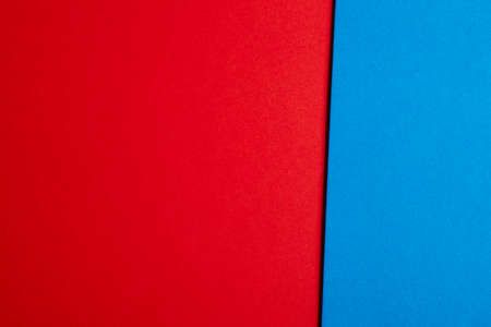 cardboards: Colored cardboards background in red and blue tone. Copy space. Horizontal