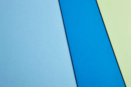 paperboard: Colored cardboards background in blue and green tone. Copy space. Horizontal