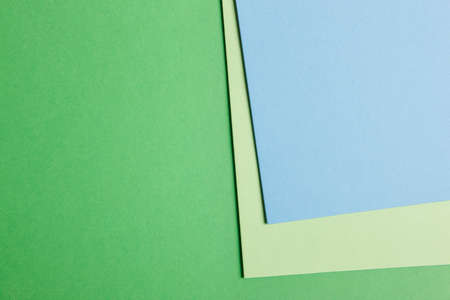 cardboards: Colored cardboards background in green blue tone. Copy space. Horizontal Stock Photo