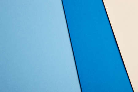 paperboard: Colored cardboards background in blue beige tone. Copy space. Horizontal