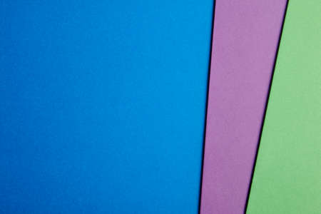Colored cardboards background in blue purple green tone. Copy space. Horizontal Stok Fotoğraf