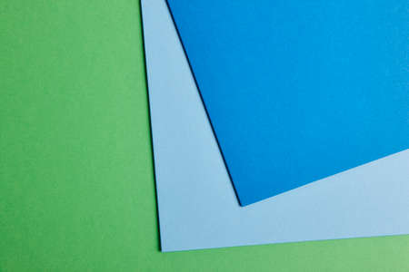 blue tone: Colored cardboards background in green blue tone. Copy space. Horizontal Stock Photo