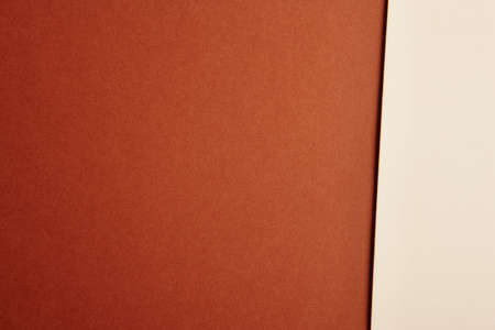 cardboards: Colored cardboards background in brown beige tone. Copy space. Horizontal