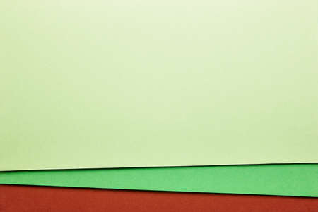 tone on tone: Colored cardboards background in green brown tone. Copy space. Horizontal Stock Photo