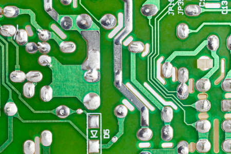 circuitry: Electronic integrated circuitry macro detail. Technology background. Horizontal
