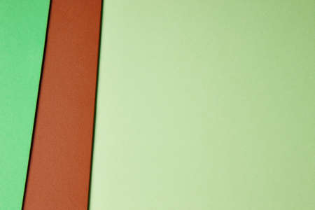 green brown: Colored cardboards background in green brown tone. Copy space. Horizontal Stock Photo