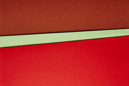 green brown: Colored cardboards background in red green brown tone. Copy space. Horizontal Stock Photo