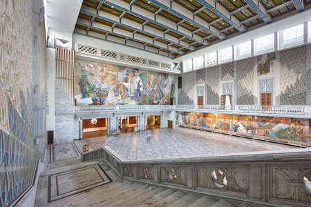 nobel: Norway. Oslo city hall interior. Radhus. Peace nobel award. Horizontal