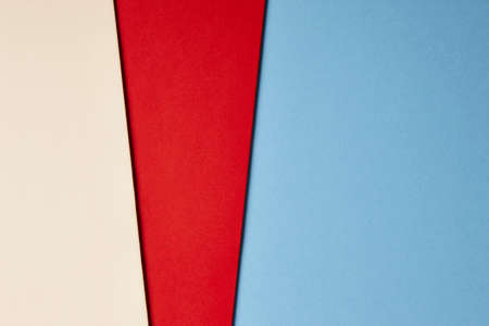 tone on tone: Colored cardboards background beige red blue tone. Copy space. Horizontal Stock Photo