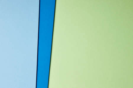Colored cardboards background in blue green tone. Copy space. Horizontal Stok Fotoğraf