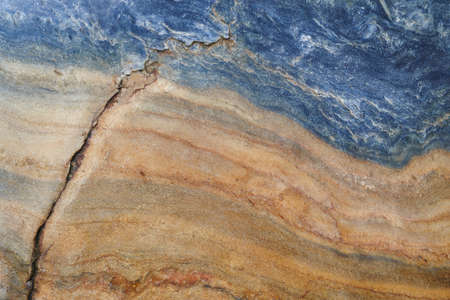 Mineral background. Folded quartzite stone macro detail. Geology gemstone. Horizontal
