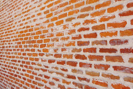 Brick wall textured background. Construction material. Architecture. Horizontal Stock Photo