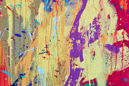 Multicolored vivid and textured gouache abstract background