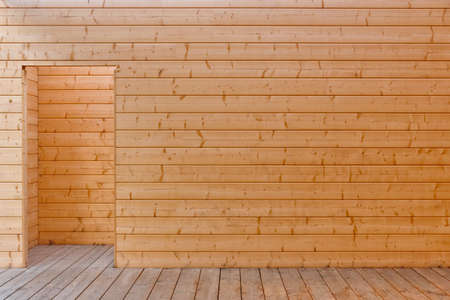 Wood material in wall and floor. Natural resources construction architecture