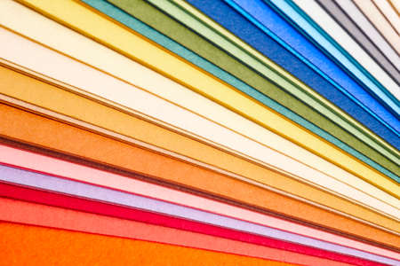 Colorful cardboards macro detail. Choose color. Textured background. Horizontal